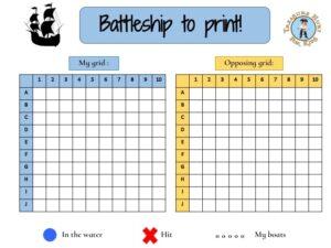 free printable battleship game for kids : road trip games for kids