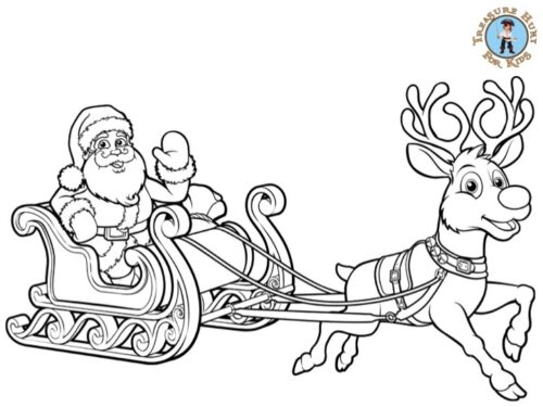 Free christmas coloring for kids