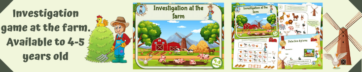 Mystery game for kids at the farm