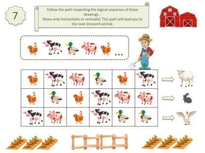 Riddle for kids. Print and play with our game of investigation at the farm