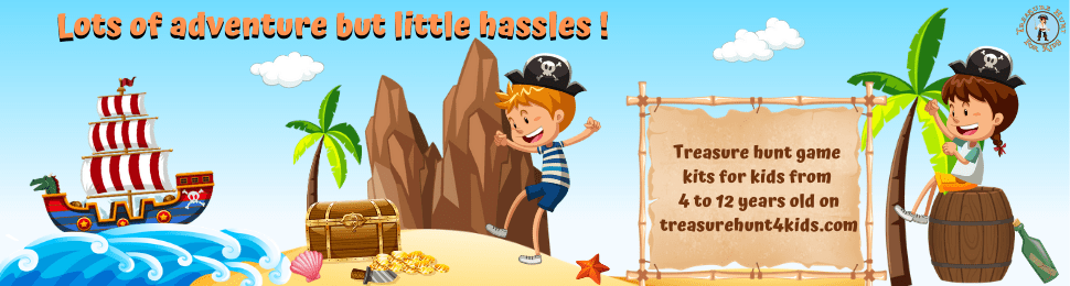 Treasure hunt game kits for kids' activity