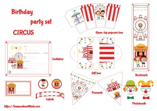 Circus birthday party set to print for kids!