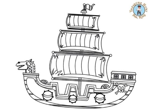 Pirate Galleon Coloring Page