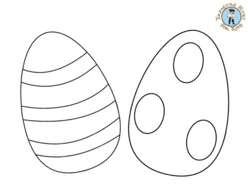 Easter egg coloring page for kids to print