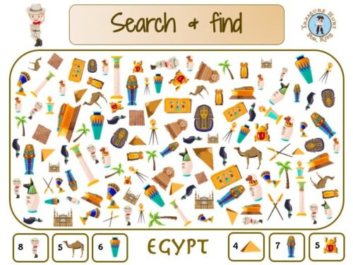 Egypt search and find to print for kids