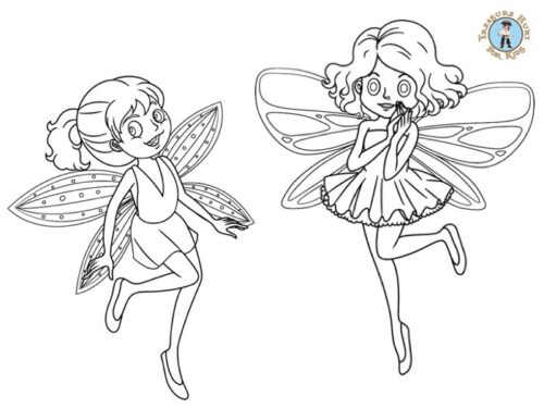 Printable fairy coloring page