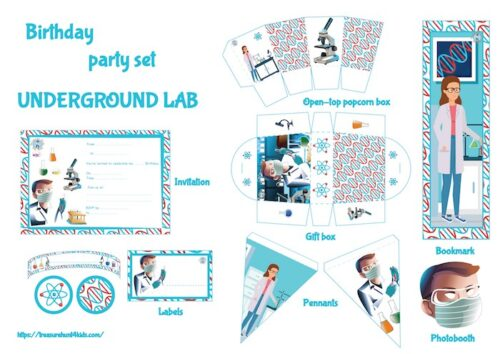Birthday party printable for kids
