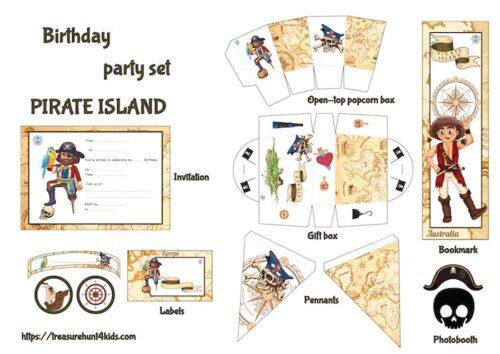 Pirate birthday party printables