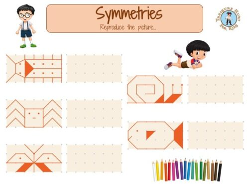 Symmetry games for kids to print
