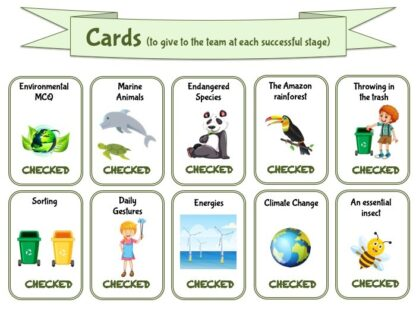 Cards to play and learn with fun about ecology and environment