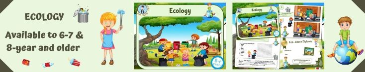 Environmental education game for kids to print