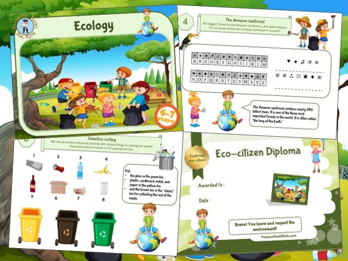 Ecology game and activity to print for kids