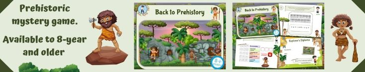 Learn about prehistory while having fun with our game kit
