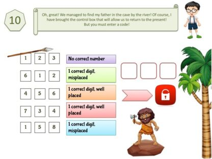 Prehistory educational game for kids from 8 years old to print