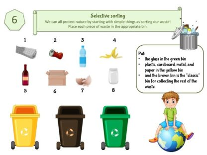 Play and learn about selective sorting with our game: waste sorting