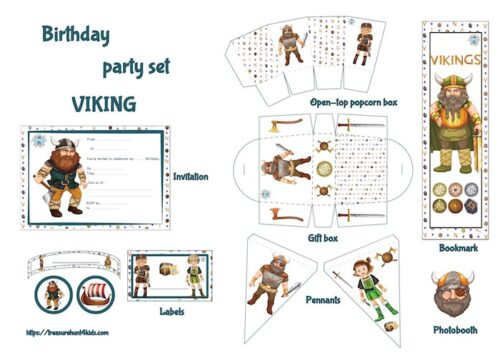 Viking birthday party Printables for kids