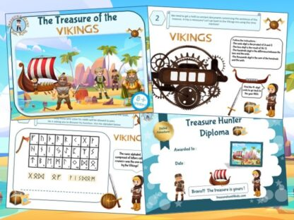 Viking birthday party treasure hunt game for kids