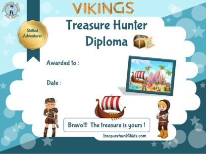 Printable viking certificate for kids birthday party