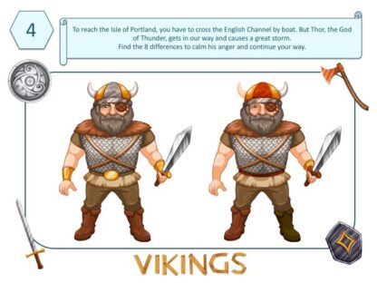 Spot the difference game, viking-themed