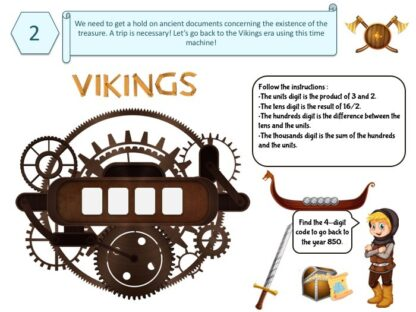 riddle & puzzle for viking treasure hunt
