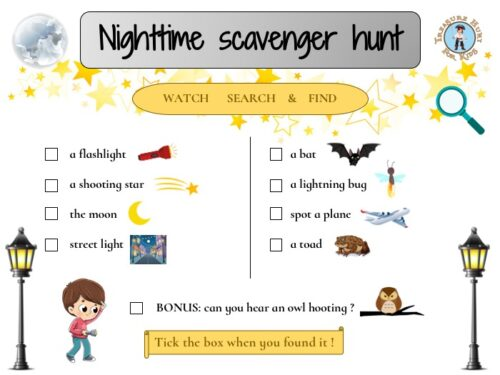 Nighttime scavenger hunt