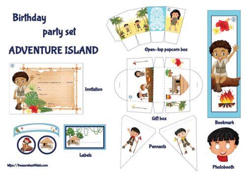 Adventure Island birthday party printables