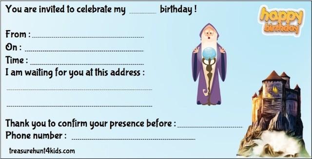 Cursed Fort birthday party invitation