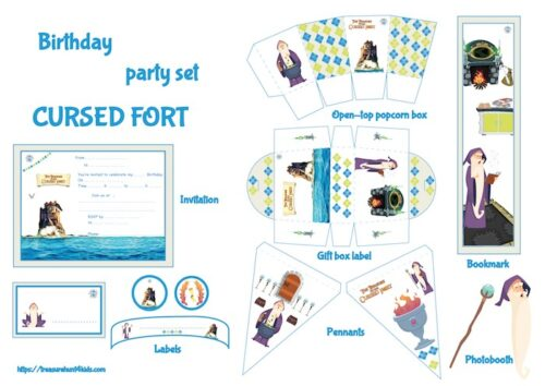 Cursed Fort birthday party printables for kids