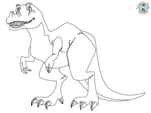 Dinosaur coloring page for kids to print