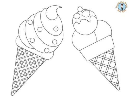 ice cream coloring page for kids