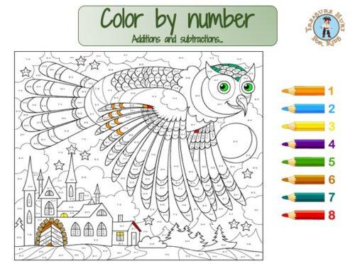 math color by number worksheet