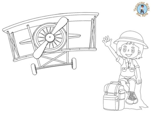 Adventurer coloring page for kids to print for free
