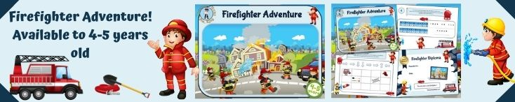 Firefighter adventure party game for kids to print