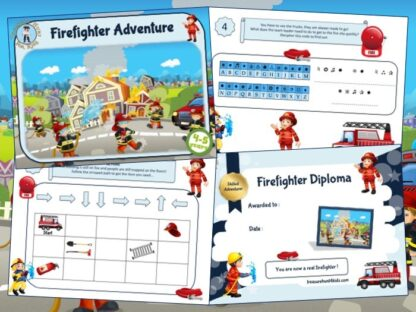Firefighter birthday party game to print for kids