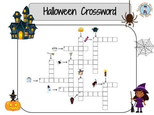 Halloween crossword for kids to print
