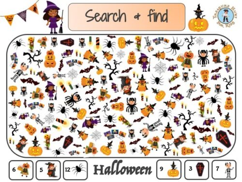 Halloween search and find activity