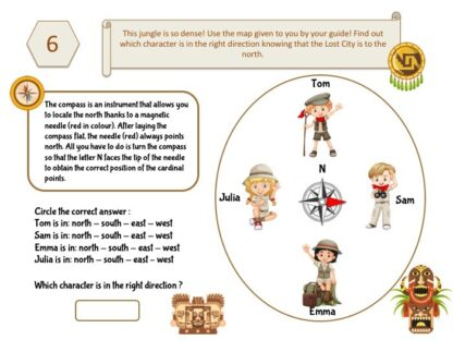 Inca treasure hunt clue for kids party game