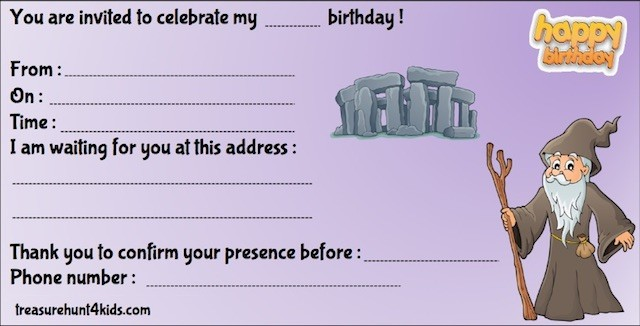 Magician invitation for magic theme birthday party