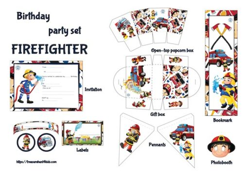 Firefighter birthday party printables