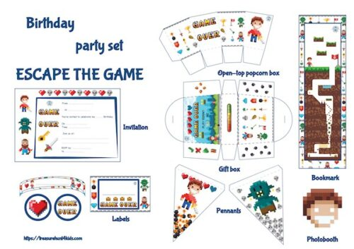 Video game birthday party printables to decorate your big event