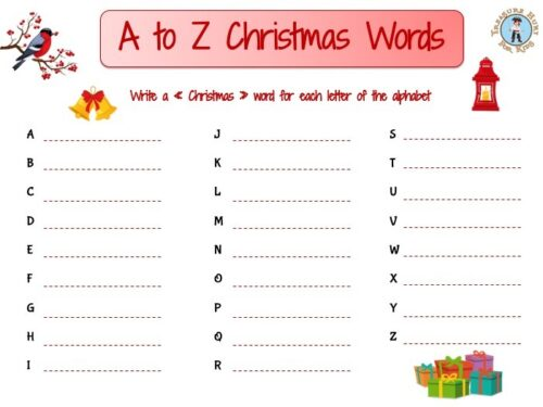 A to Z Christmas holiday words