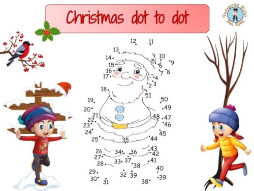 Christmas dot to dot : connect the dots to draw Santa Claus