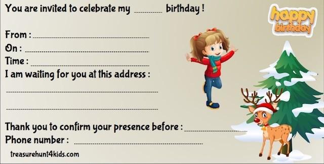 Printable invitation for Christmas mystery game