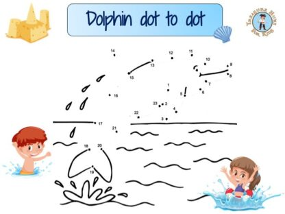 Dolphin dot to dot is a game containing a sequence of numbered dots. Draw the lines connecting the dots in order to reveal the outline of a dolphin.