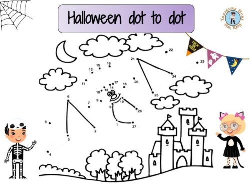 Halloween dot to dot printable game