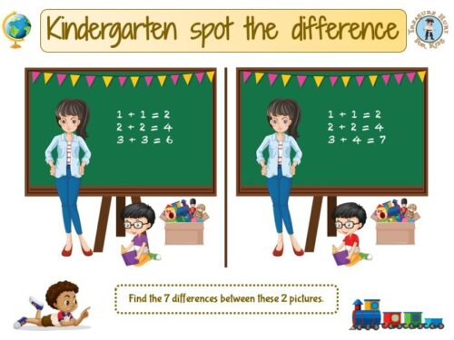 Kindergarten spot the difference game