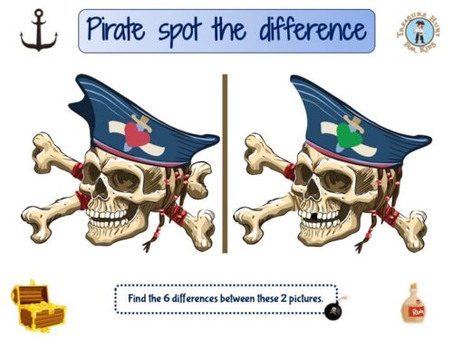 Pirate spot the difference game