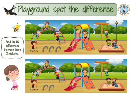 Playground spot the difference game