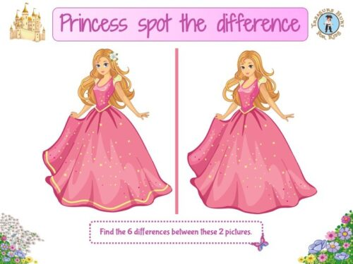 Princess spot the difference game