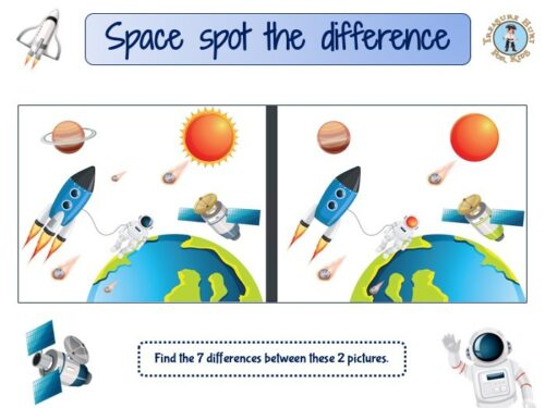 Space spot the difference game